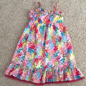 Easter dress lined adjustable straps paint drops
